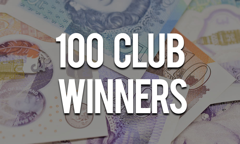 100 club winners (August)